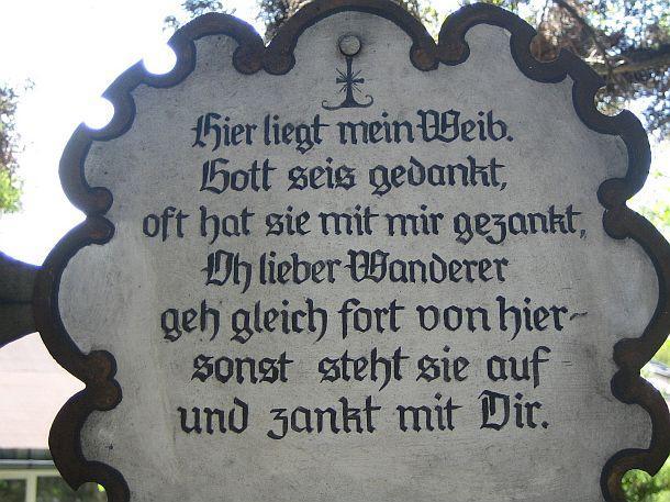 Kuriose Friedhofstafeln Mein Schoner Garten Forum