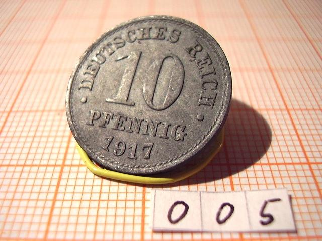 10 Pfennig 1917 1921 Deutsches Reich 1871 1945 Münz Board