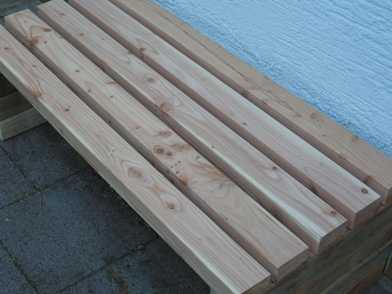Sitzbank Design Naturholz Baum