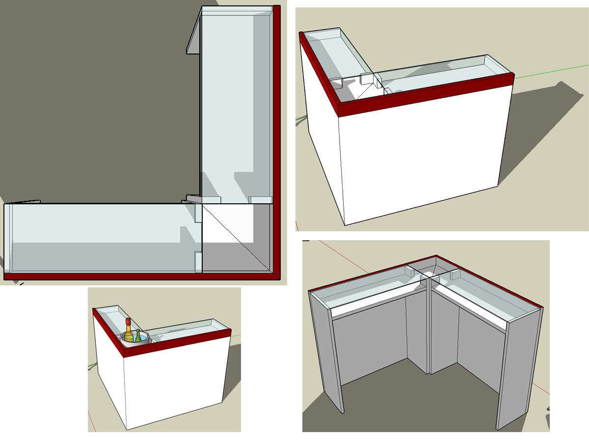 bau einer bar theke woodworker. Black Bedroom Furniture Sets. Home Design Ideas