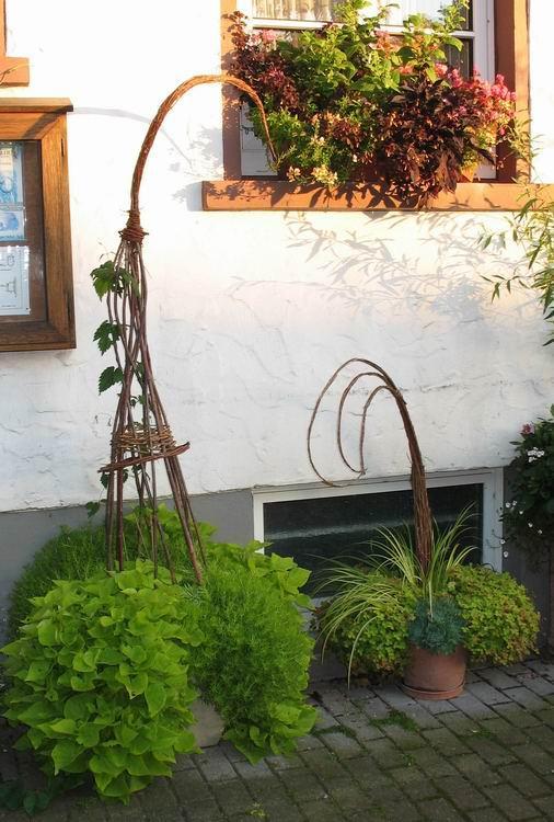 gartendeko aus weide - deko & floristik - tauschgartenforum, Gartenarbeit ideen