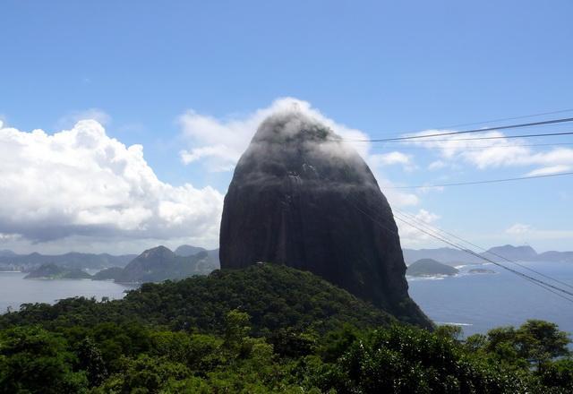 Die Aussicht Ist Wirklich Atemberaubend. Nach Links Sieht Man Die  Copacabana ...