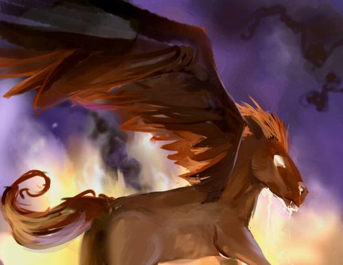 DSG 1339: Fantasy Creature: DEMONIC VERSION OF PEGASUS