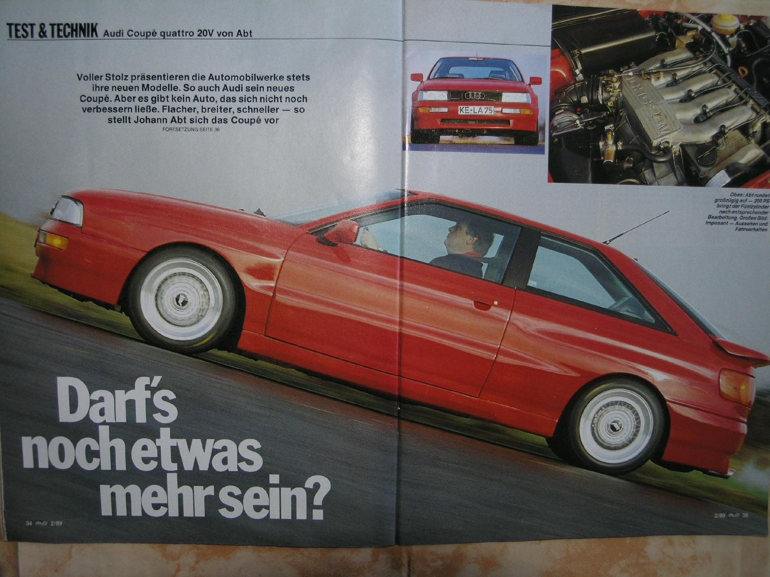 Audi 5 Zylinder FORUM :: Thema anzeigen - Audi Coupe Quattro 20V von ...