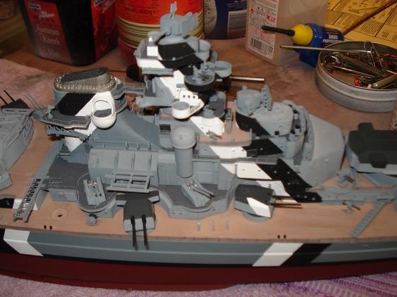 Entfernungsmesser Schlachtschiff : Fertig schlachtschiff bismarck revell
