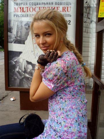 Eine junge hübsche Russin 8)