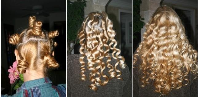 Dauerwelle in langem haar