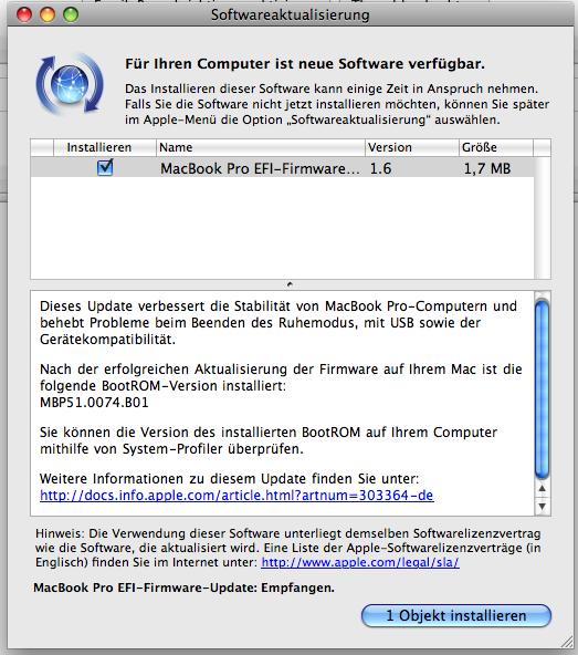 macbook smc firmware update can'