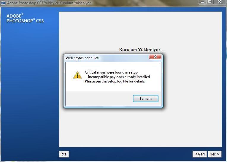 Photoshop CS3 problemi (Uninstal-kurulum)