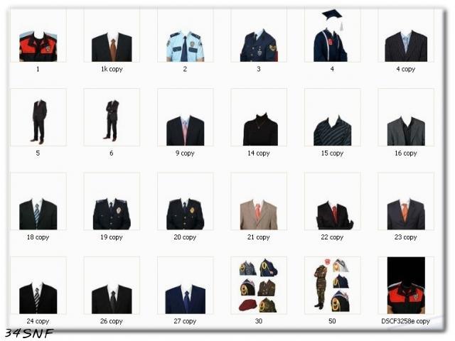 Hazır elbiseler [photoshop için]
