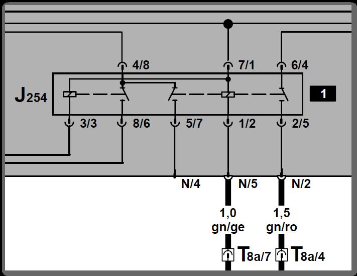Magnetkupplung über Zentralelektrik Sockel Relais 140 durchmessen ...