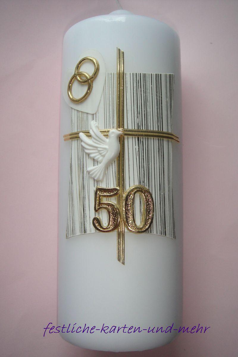Edle hochzeitskerze kerze goldene hochzeit handarbeit ebay for Dekoration zur goldenen hochzeit