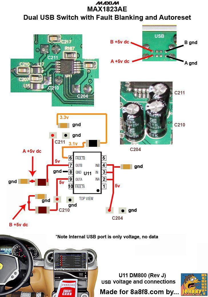 Dm800 U11 USB power