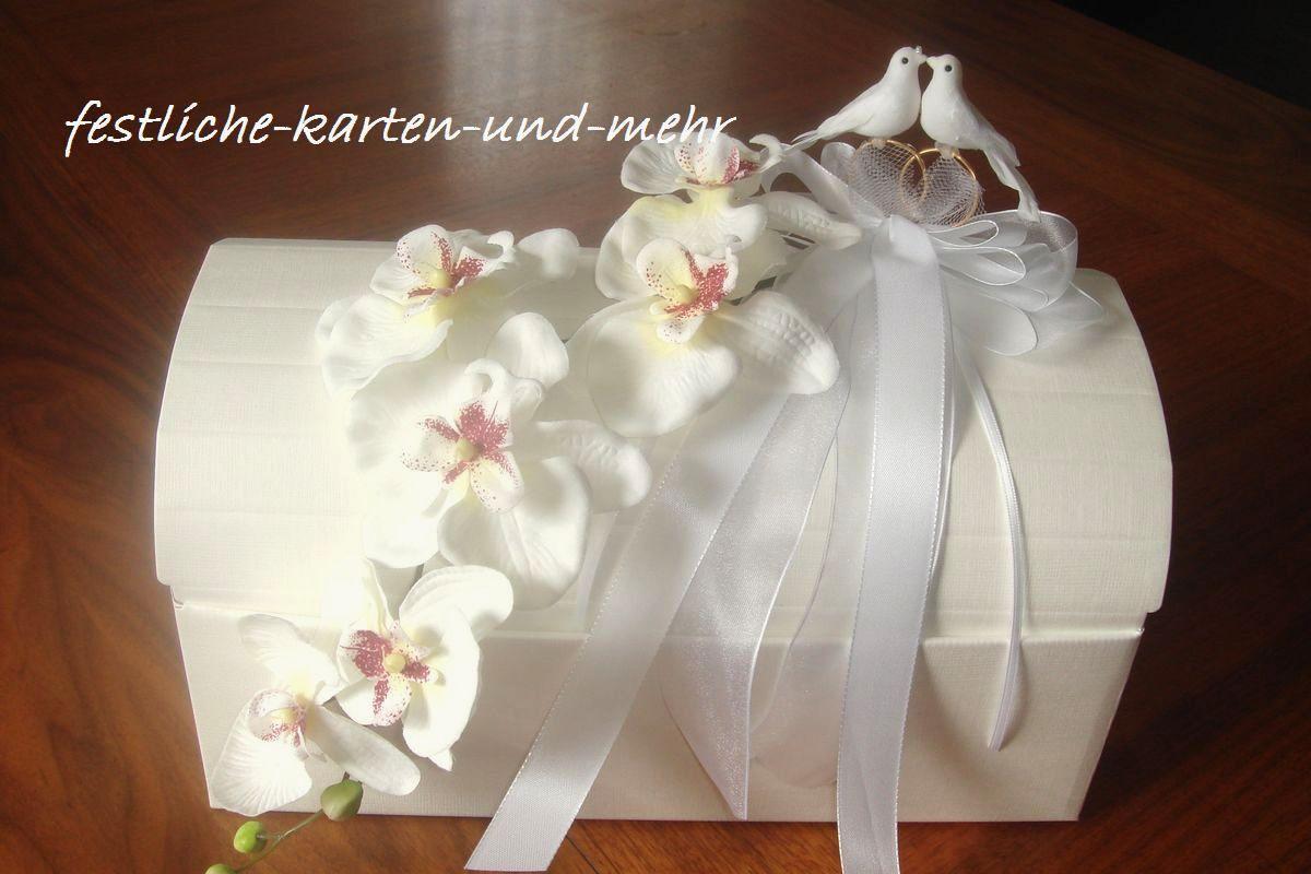 Edle Briefbox Box Truhe Geldgeschenke Orchidee Hochzeit On Popscreen