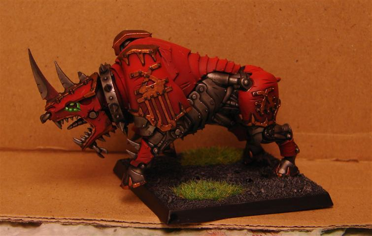 Brush And Miniature Torture: Moloch of Khorne - test mini