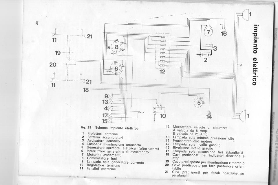 Schema Elettrico Frecce : Schema impianto elettrico frecce trattore montare motore
