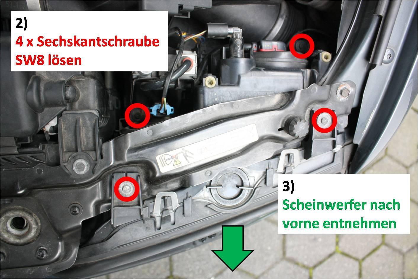 Reflektorhalter Neue Reparaturanleitung Ohne öffnung Des