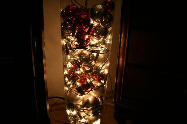 Bilder weihnachtsdeko for Glas mit kugeln dekorieren