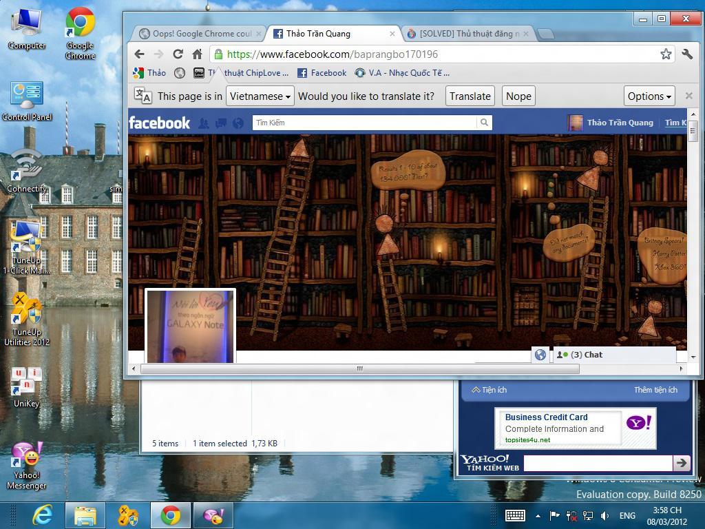 Đăng nhập Facebook với People windows 8 trên mạng FPT