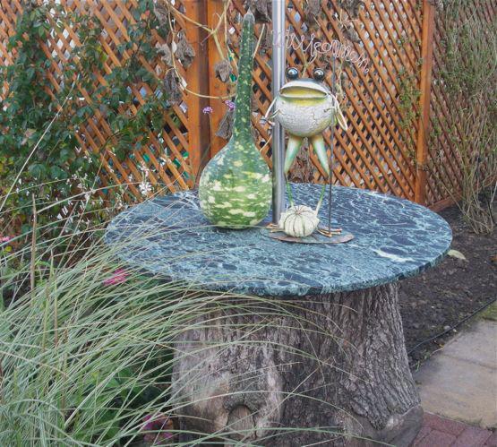 Gesucht der etwas andere sonnenschirmst nder mein for Garten idee baumstumpf