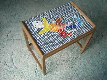 kabeltrommel als tisch bilder der fertigen vogeltr nke. Black Bedroom Furniture Sets. Home Design Ideas