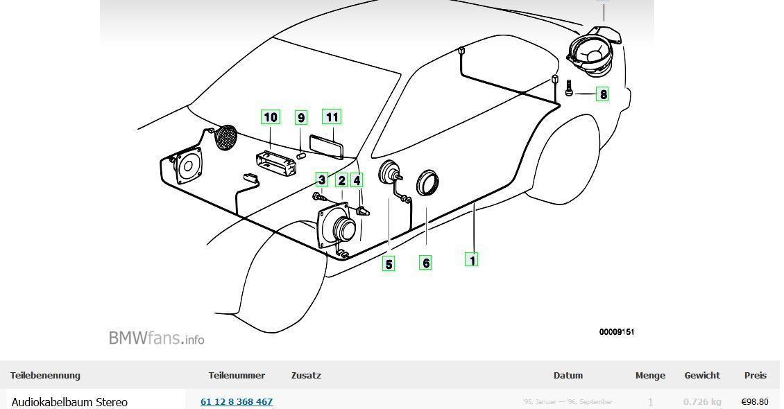 E36 Compact Top Hi-Fi System nachrüsten [ Car Hifi & Multimedia ...