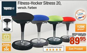 plus topstar fitness hocker sitness 20 f r 79 95 inkl versand. Black Bedroom Furniture Sets. Home Design Ideas