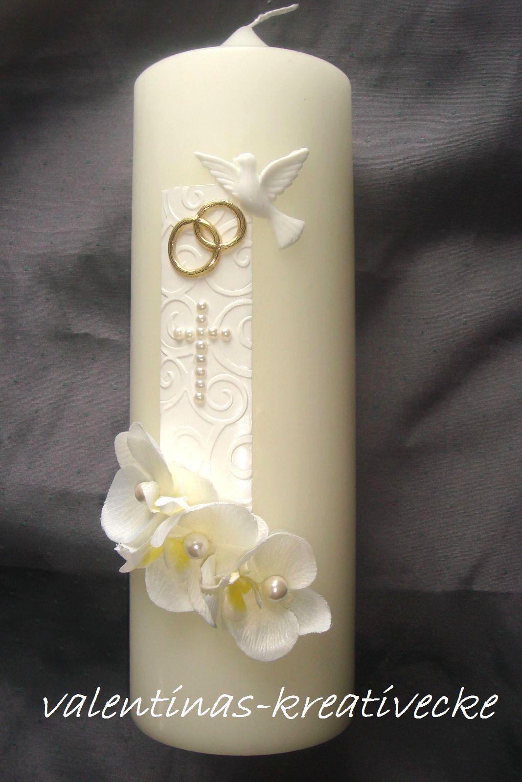 Besondere kerze hochzeitskerze hochzeit creme tischdeko - Tischdeko orchideen ...