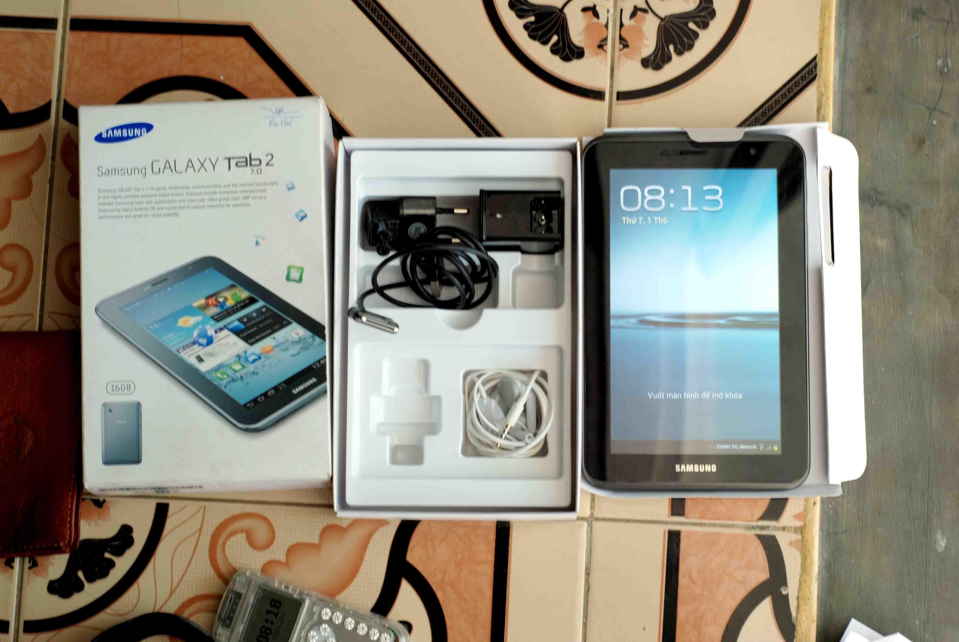 Galaxy TAB 2 7.0 full box 3G wifi có hình