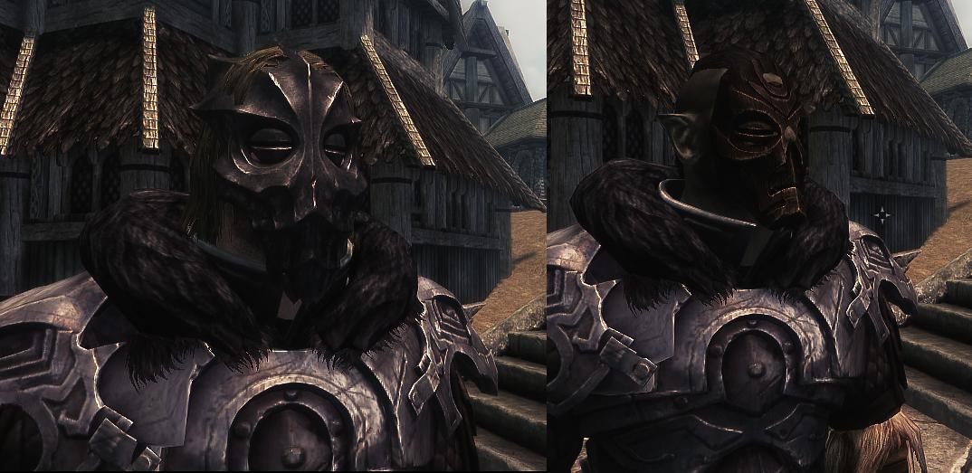 hoodless dragonborn dlc dragonpriest masks - Skyrim Mod Requests