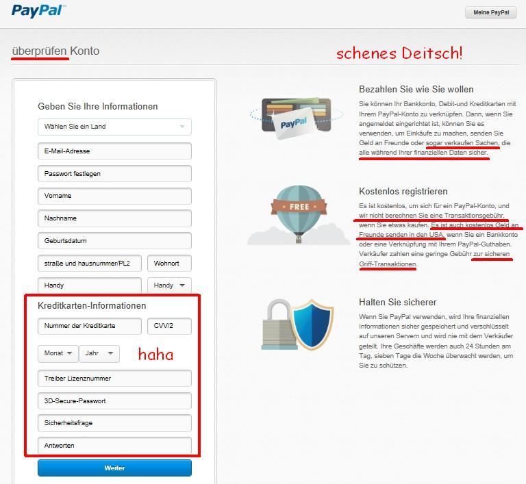 paypal limits anzeigen