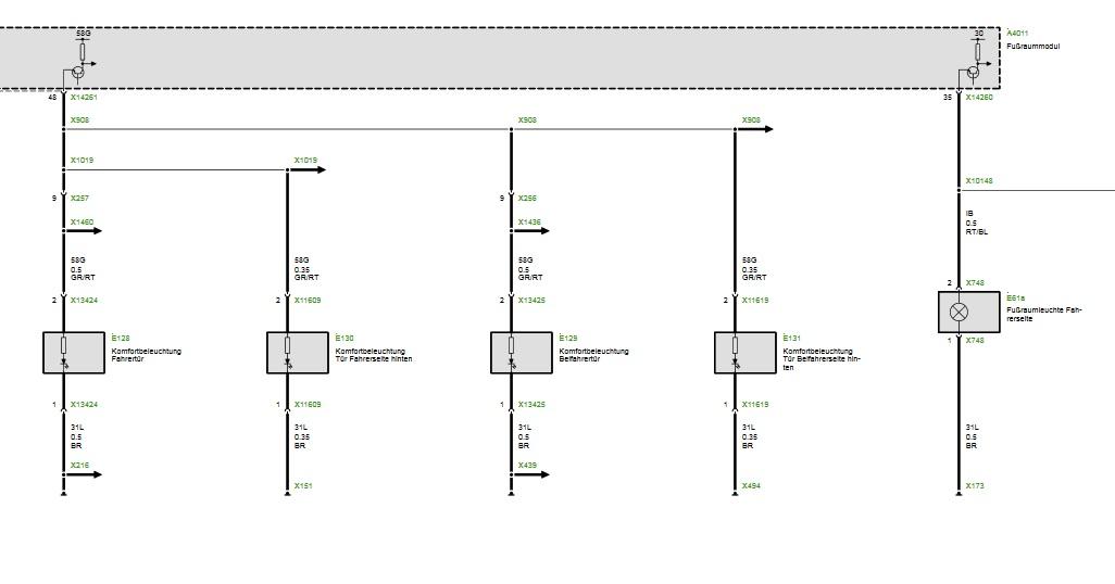 Pinbelegung elektrische Fensterheber vorne - E90 E91 E92 E93 ...