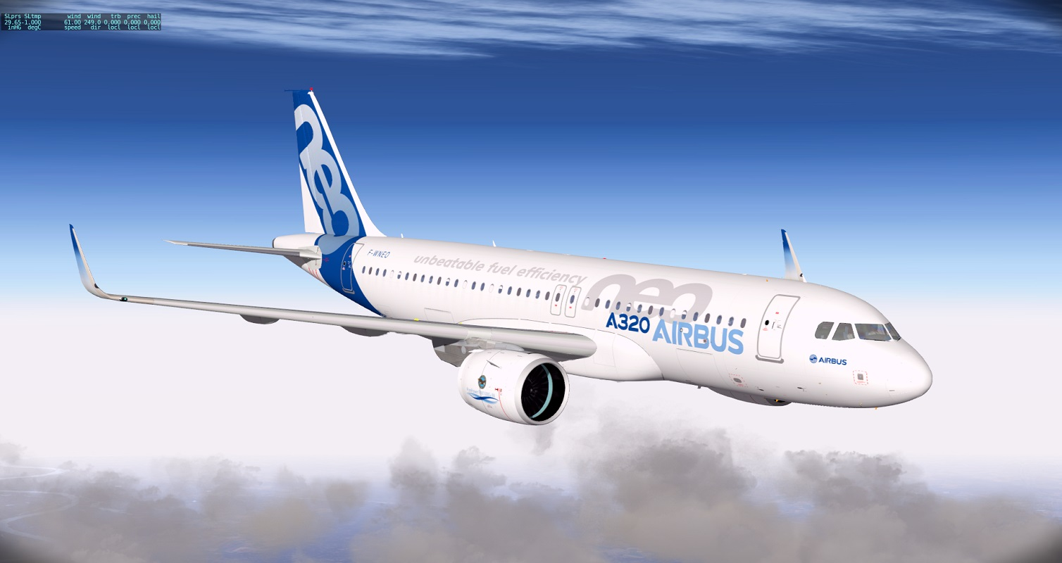 XPX: Peter Hager´s new A320neo in action - The AVSIM Screen