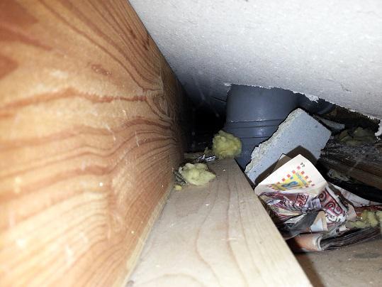 abwasser toilette und waschbecken in abluft fallrohr. Black Bedroom Furniture Sets. Home Design Ideas
