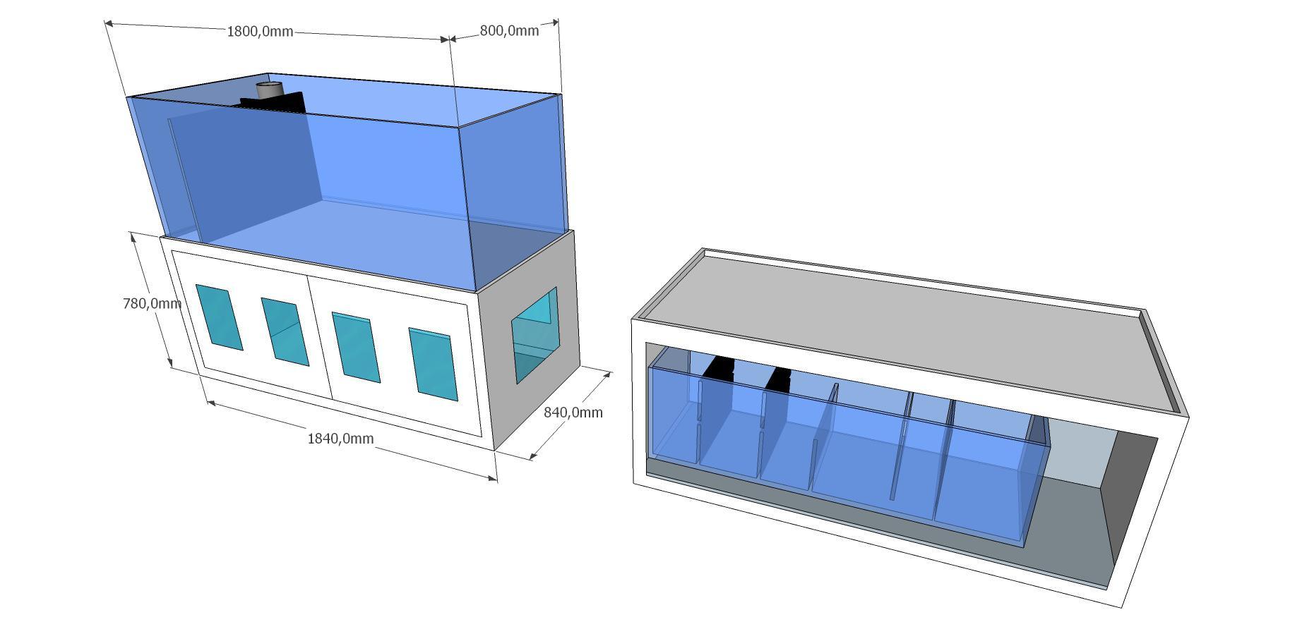 300 liter zu ber 850 liter von der plaung bis zur. Black Bedroom Furniture Sets. Home Design Ideas