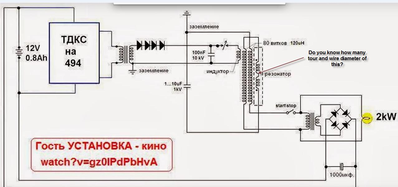 Kapanadze circuit diagram