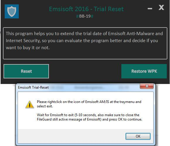 Trial Reset Software