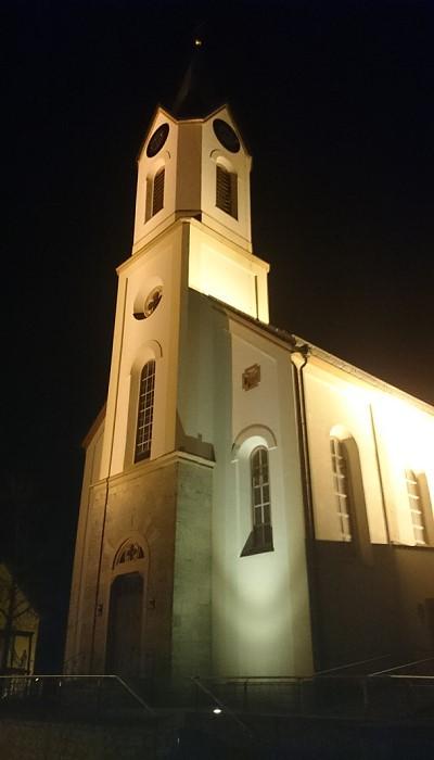 Kirchturm in Kist