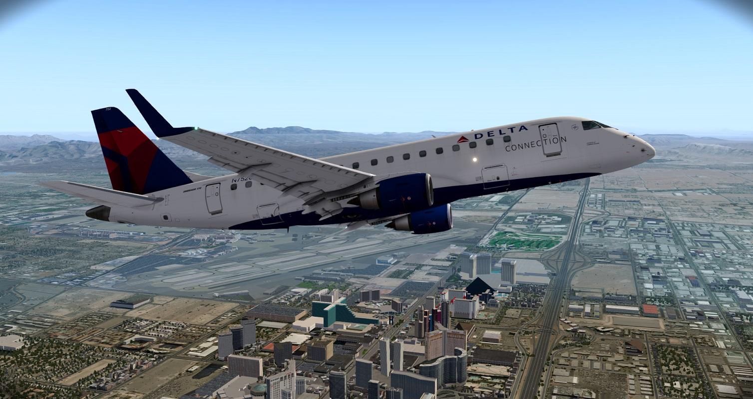 XPX: Delta E170 KLAS to KSAN - The AVSIM Screen Shots Forum
