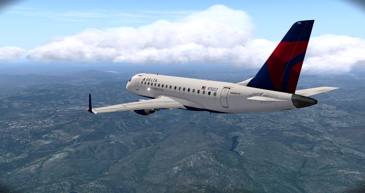XPX: Delta E170 KLAS to KSAN - The AVSIM Screen Shots Forum