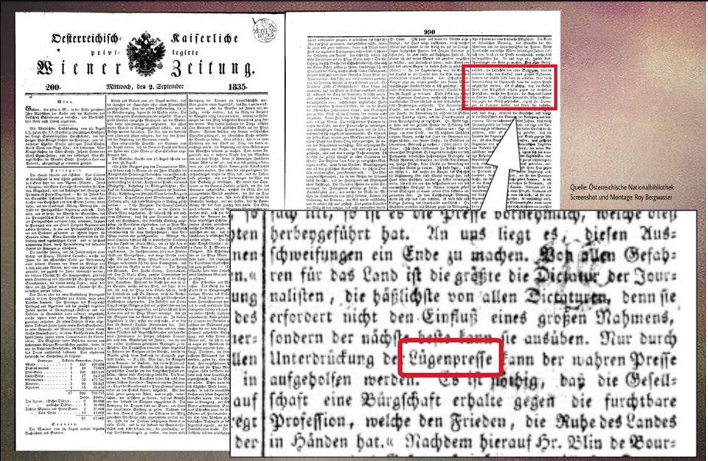 """Lügenpresse-Online oder Fake News """"Nazibegriffe"""