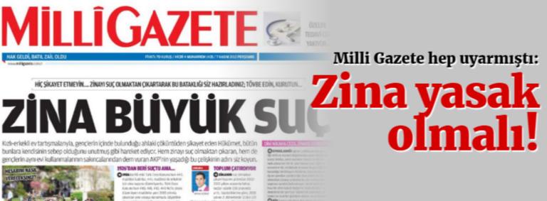 Redyellow'un Kervan'ı 2162 (21.02.2018) AB İstemiş, Zina Yasağını Kaldırmışlar!!!