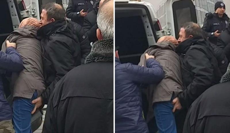 Polis SAKARYA'da başörtülü bayanı elle taciz ederken