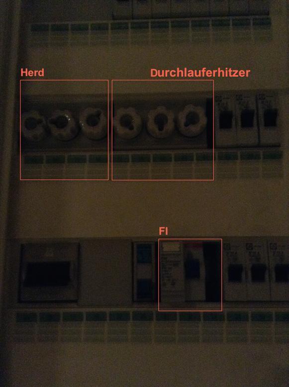 Häufig Erledigt - Elektro-Frage: Durchlauferhitzer und Sicherung im Gerät IX91